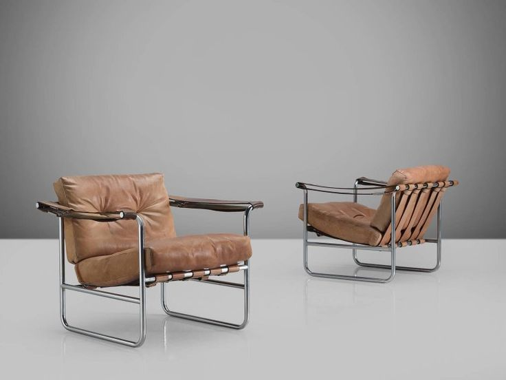 Swiss Pair of Leather Armchairs by Hans Eichenberger for De Sede 5