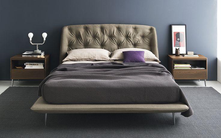 HAMPTON upholstered queen size bed - Calligaris CS/6047-Q