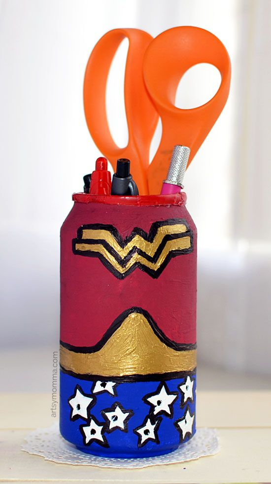 Diy Craft Ideas For Kids Part - 29: Recycled Soda Can Wonder Woman Craft. Diy Craft ProjectsCraft TutorialsKids  ...