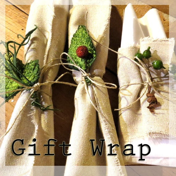 Gift wrapping service Add on to your order Premium wrap