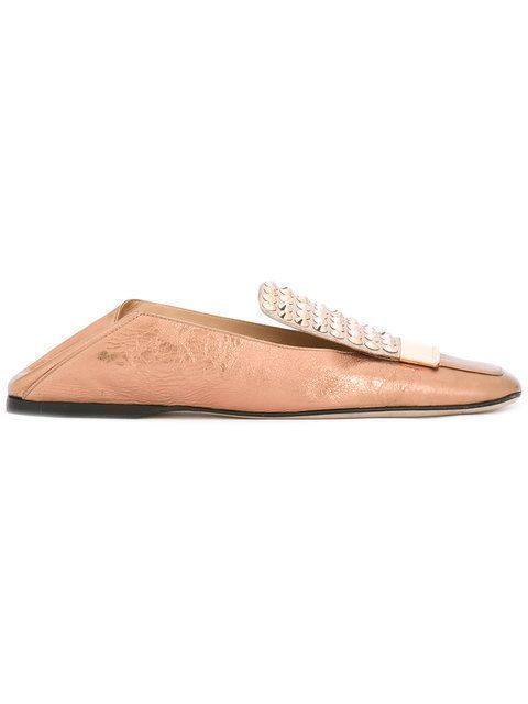SERGIO ROSSI Studded Loafers. #sergiorossi #shoes #flats #sergiorossiflats #stuartweitzmanloafers
