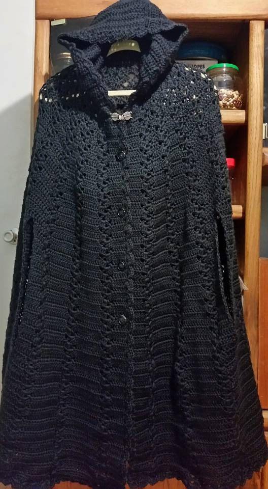 Long Hooded Crochet Cape Cloak Crochet cape pattern