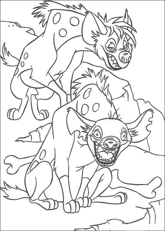 der könig der löwen 2 ausmalbilder für kinder. malvorlagen