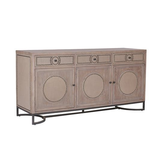 Luther Cabinet  Transitional, Upholstery  Fabric, Wood, Sideboard by Gabby