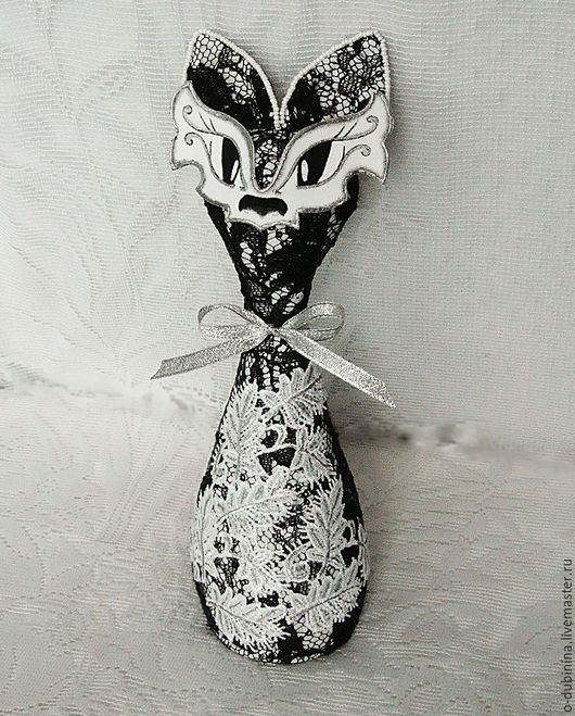 Игрушки животные, ручной работы. Ярмарка Мастеров - ручная работа. Купить Кошечка.. Handmade. Чёрно-белый, кошка игрушка кошка
