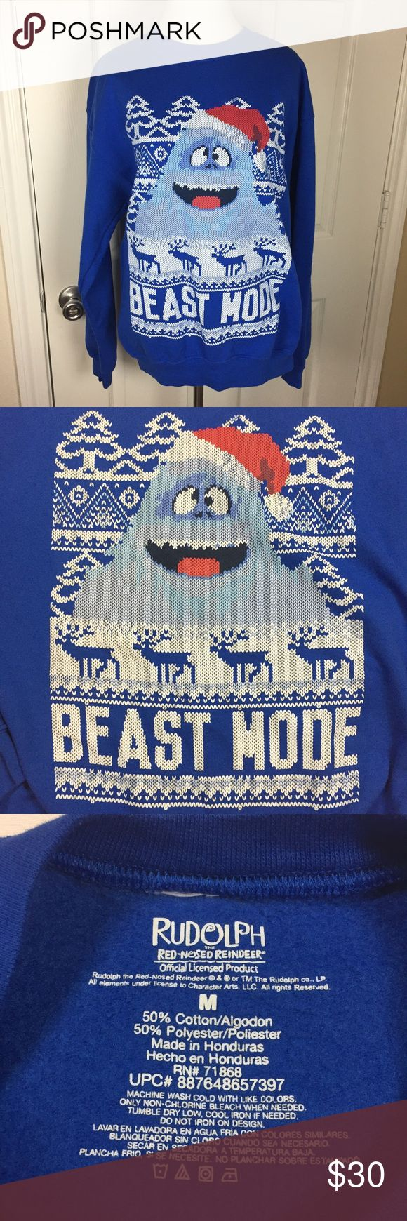 """Ugly Christmas Sweater Rudolph the red nosed reindeer, abominable snowman. Beast mode. Screen printed sweatshirt. Ask any questions. Make an offer using the """"offer"""" button. 15% discount on bundles. Sweaters Crewneck"""