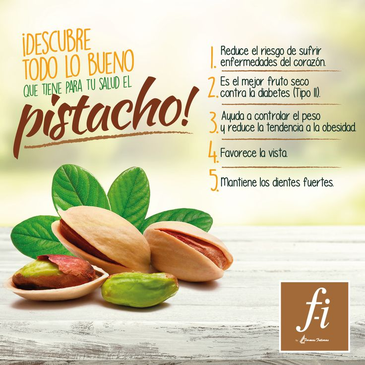 Descubre los beneficios del pistacho e inclúyelo en tu dieta ¡Por tu salud! #TipFI