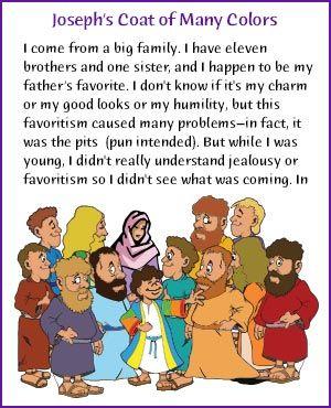 Joseph's Coat of Many Colors (Story) - Kids Korner - BibleWise