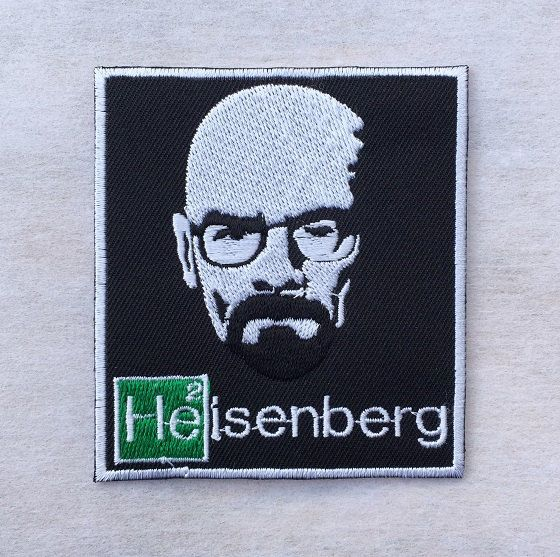 "Heisenberg Walter White Breaking Bad The Movie Embroidered Iron on Patch 3"" x 3"""