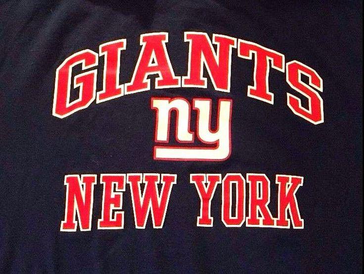 New York Giants Football Sport Team Apparel Large Men T Shirt Game Short Sleeve  #NewYorkGiants