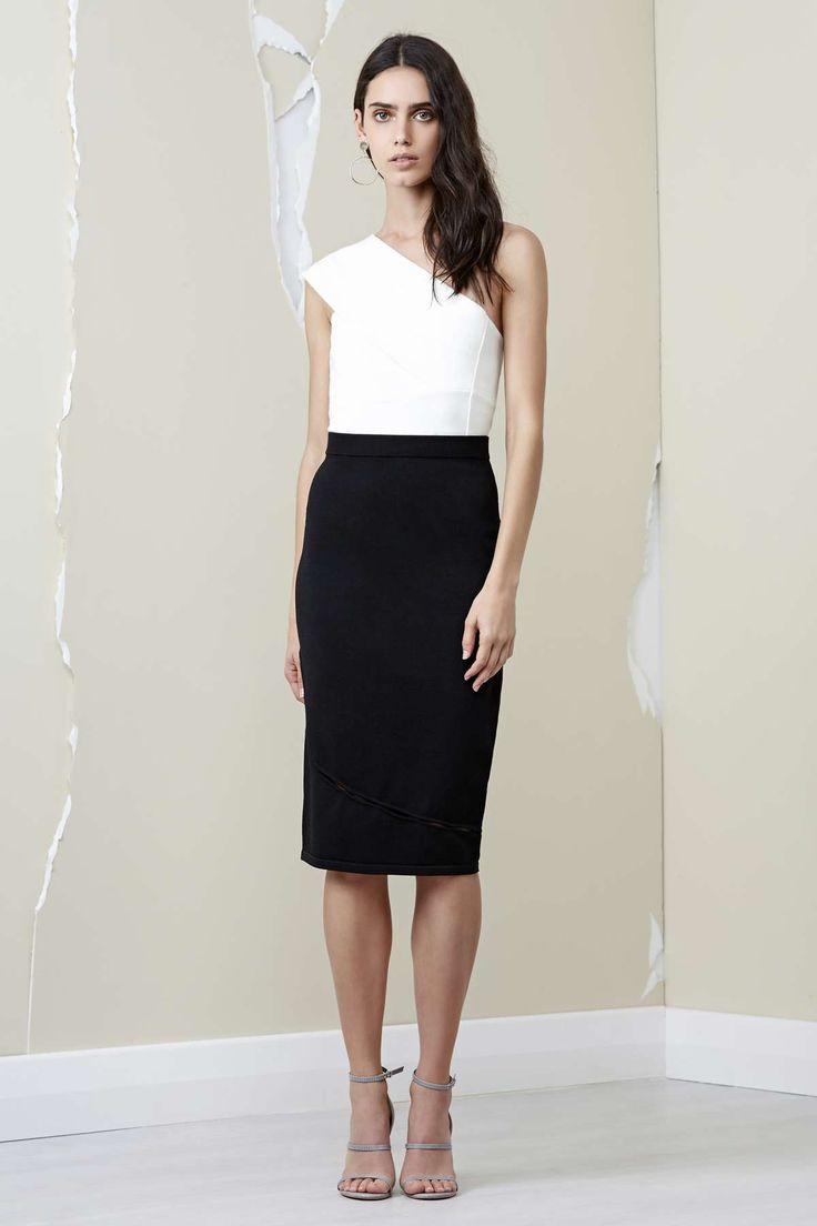 AINSLEY KNIT SKIRT black