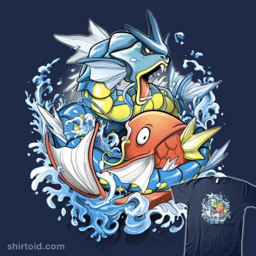 Splash-Koi | Shirtoid #alemaglia #gaming #gyarados #magikarp #maglianoalessio #nintendo #pokemon #pokemongo #videogame