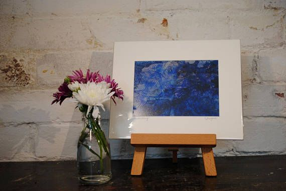 Mixed Media Abstract Water Painting  Limited Edition Mounted