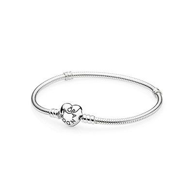 PANDORA | Sterling silver w/heart clasp Perfect for my pink hearts/love/Valentines bracelet! #PANDORAvalentinescontest