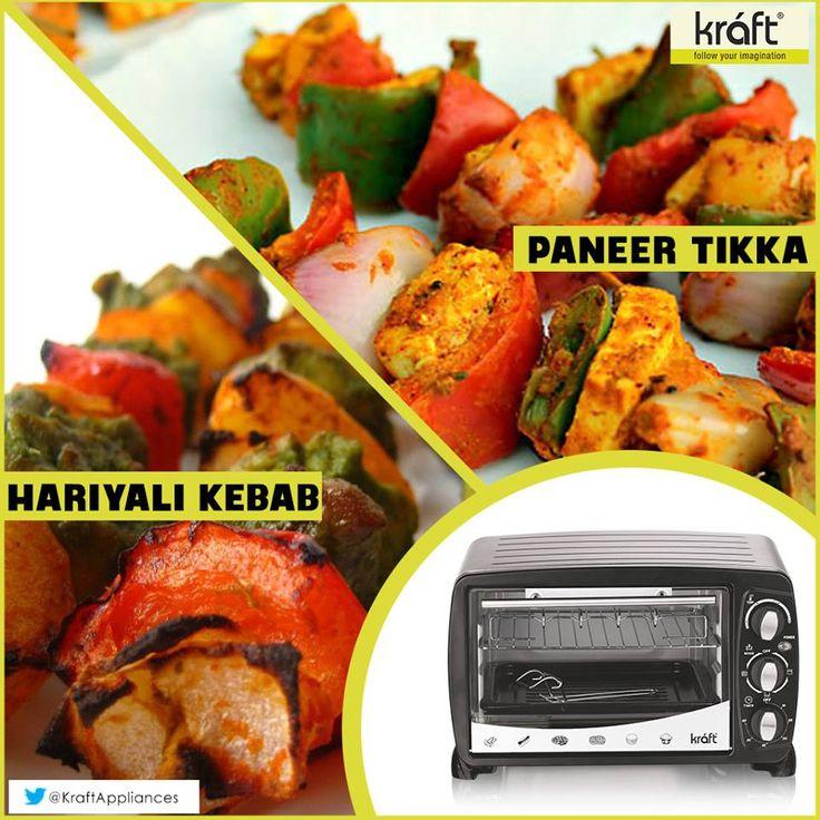 Kraft OTG makes some scrumptious grilled dishes. Which one is your favorite, PaneerTikka or Hariyali kebab?