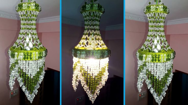 How To Make Jhumar/Chandelier | Wall Hanging Decoration | Beaded Chandel...