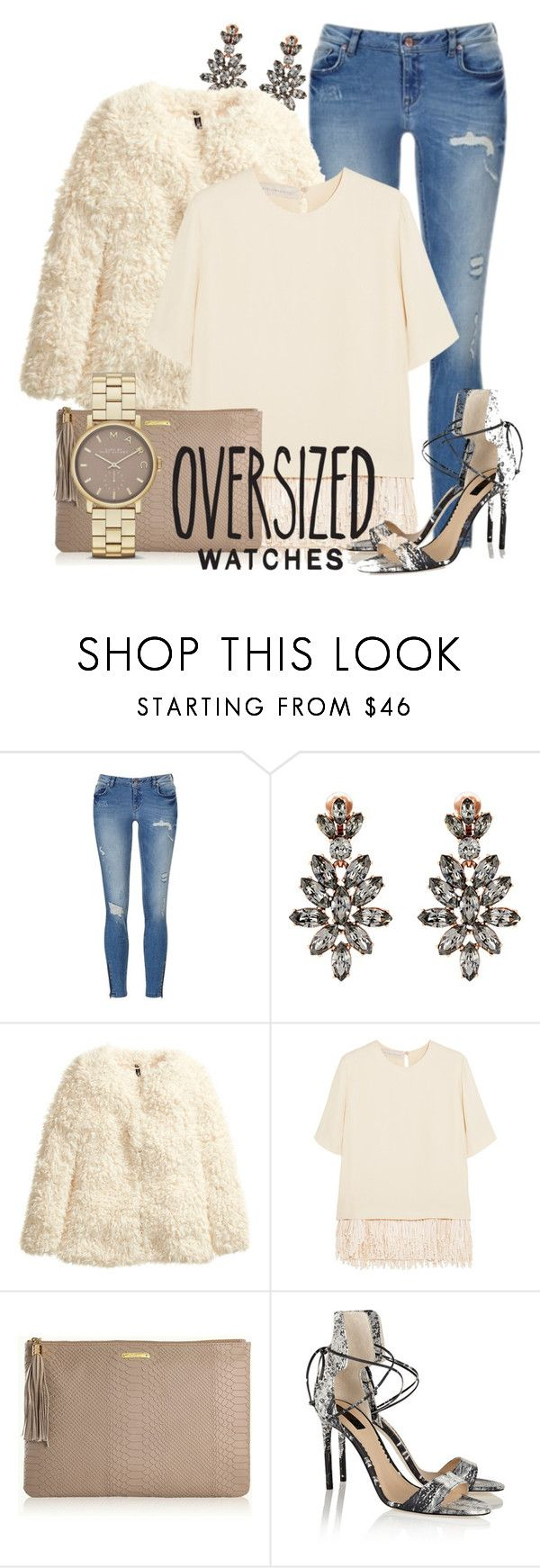 """""""Oversized Watches"""" by laex ❤ liked on Polyvore featuring Oscar de la Renta, H&M, STELLA McCARTNEY, GiGi New York, Marc by Marc Jacobs and Reed Krakoff"""