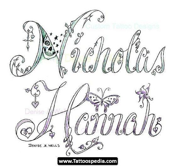 Name%20Tattoo%20Designs 02 Name Tattoo Design Idea Designs 02