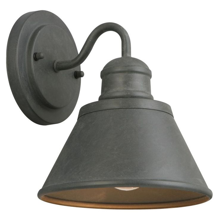 For exterior over front door - Hampton Bay 1-Light Zinc Outdoor Wall Lantern-HSP1691A - The Home Depot