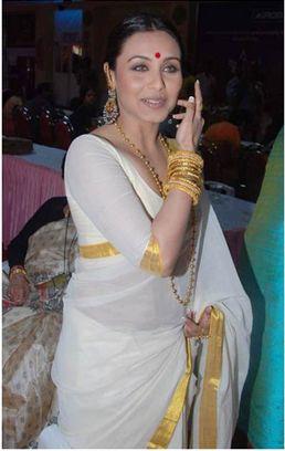 Settu saree from kerala