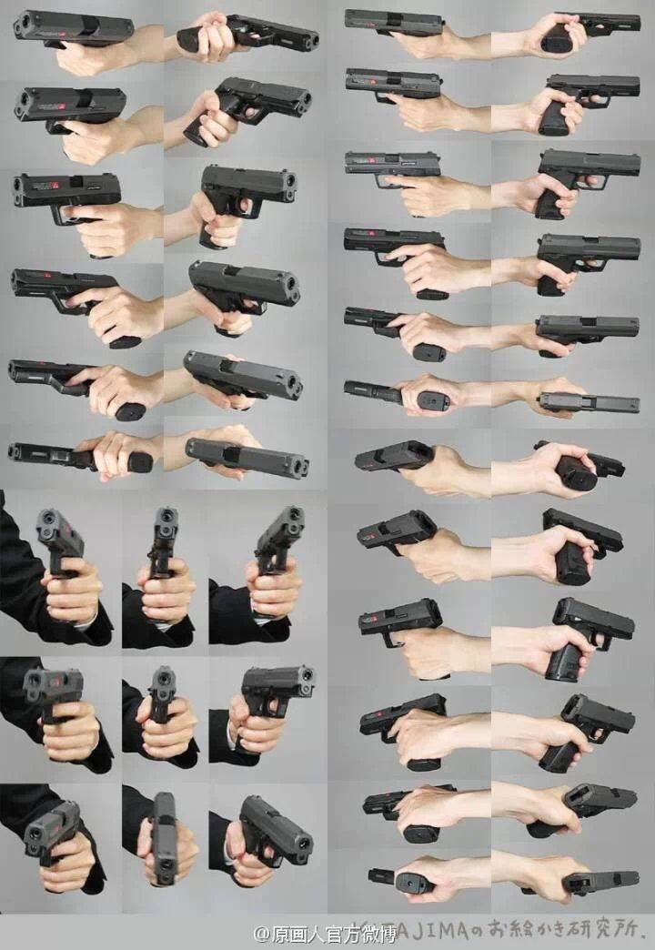 guns/arms: how to hold