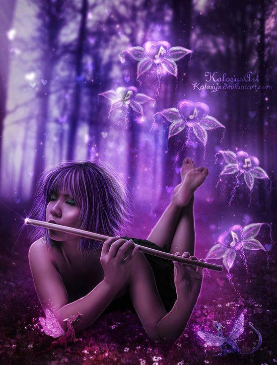 .: Fantasy, Magic Sound, Fairies, Flute, Purple Flowers, Pictures Poses, Dust, Songs Hye-Kyo, Dragon