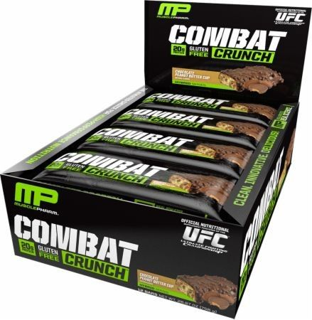 Muscle Pharm Combat Crunch Bar 12/Box - Bars - Protein - Sports Nutrition & More