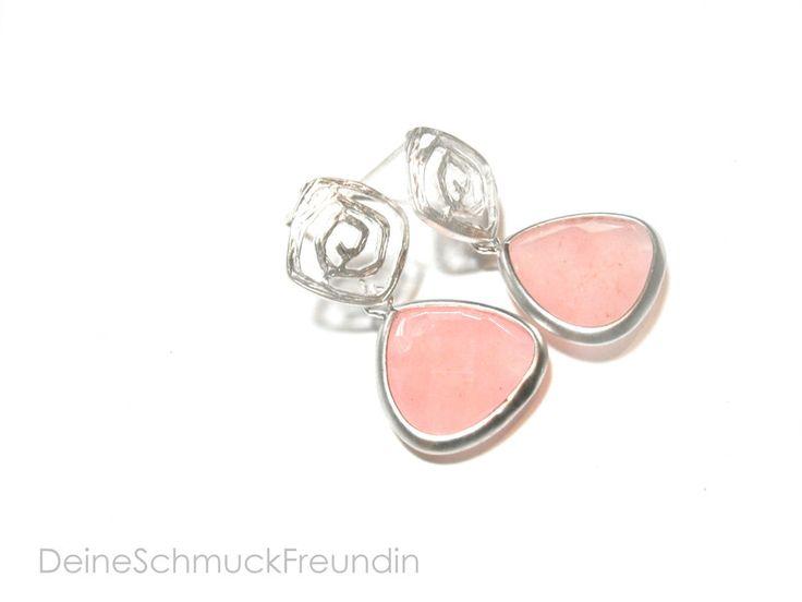 Ohrringe rosa silber von DeineSchmuckFreundin - Schmuck und Accessoires auf DaWanda.com