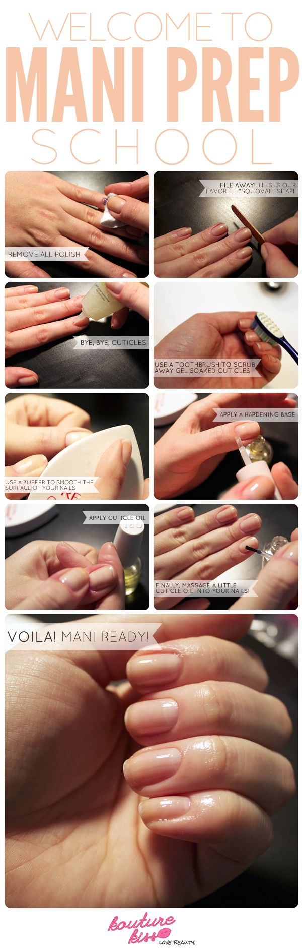 Mani-Ready! How to Exfoliate, Buff and File Pre Manicure, Salon Style!