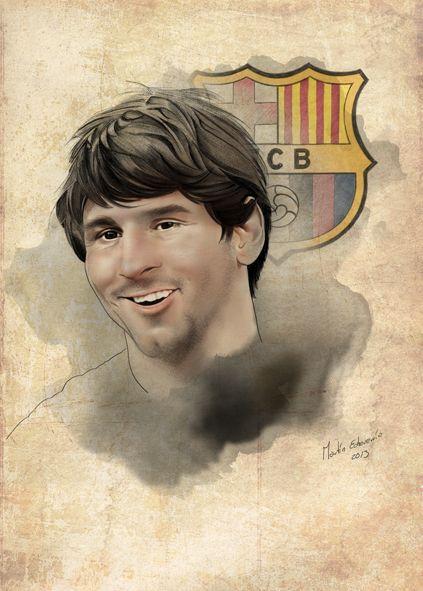Lionel Messi FC Barcelona by Martin Echeverria, via Behance