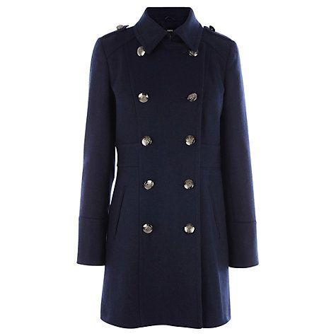 Buy Oasis Military Coat, Navy Online at johnlewis.com