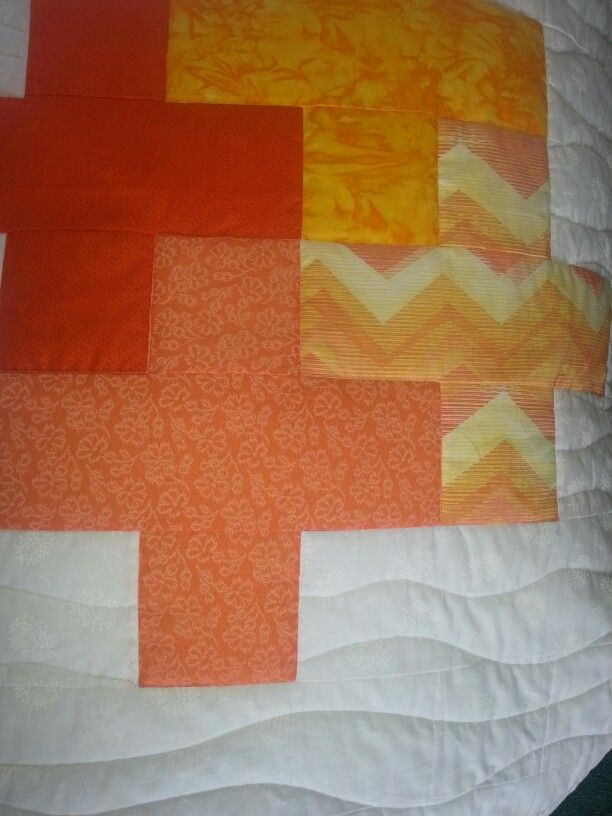 My plus quilt finally finshed and looking incredible.