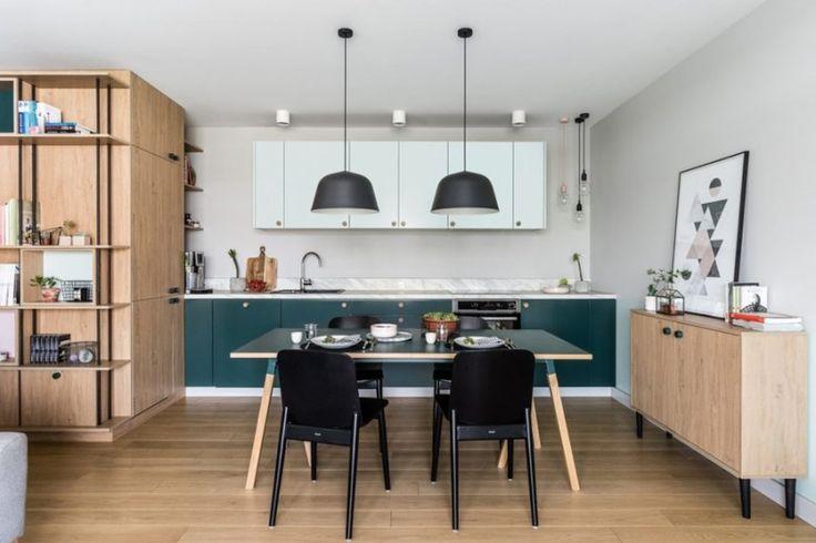 Moderno apartamento de inspiración escandinava #hometour #apartamento #escandinavo #nordico #cocina #mesa #saloncomedor