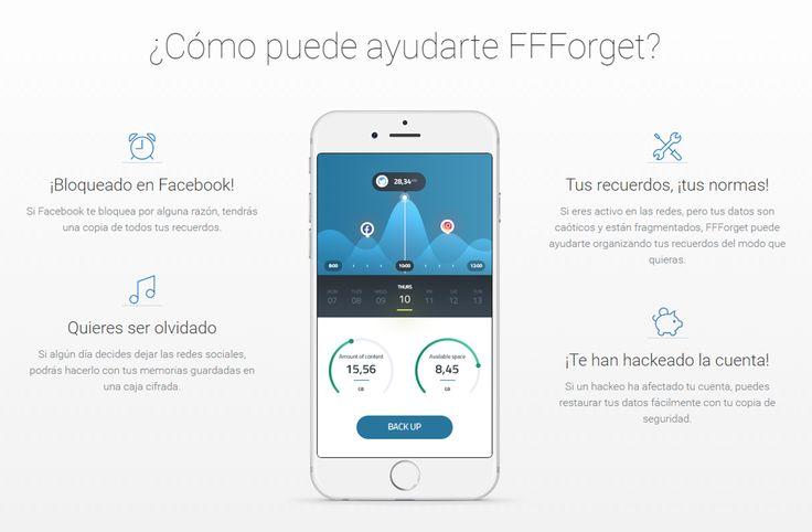 La app FFForget le permitirá hacer copias de seguridad de todos sus recuerdos en las redes sociales y mantenerlos en un contenedor seguro y cifrado