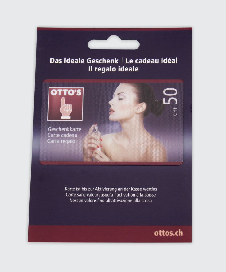 Gift Card and Carrier for Swiss Brand OTTO'S