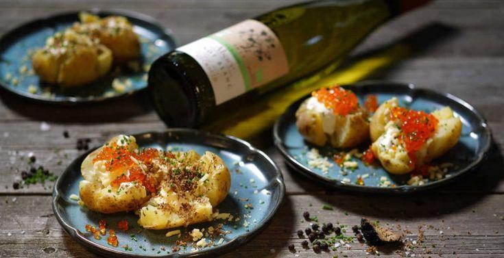 Julmiddag med smak av Alsace - del 5 - Krossad potatis med tryffel eller forellrom:  http://www.senses.se/recept-julmiddag-med-smak-av-alsace-del-5/