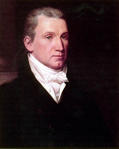 President James Monroe - Presidential Oath of Office Administered to James Monroe by the Honorable John Marshall, Chief Justice of the U.S. Supreme Court.