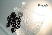 Vernada Design korvakorut, musta nahka, PITKÄ