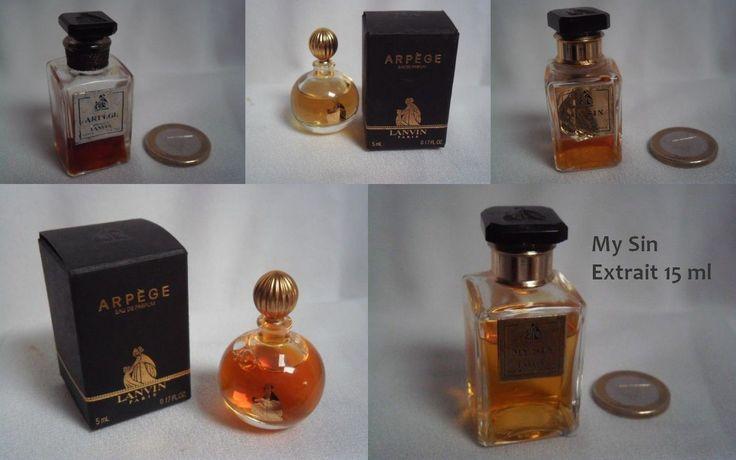 RARE Flacon Miniature Ancienne Lanvin My Sin Arpege Extrait Parfum 7 5 ml 15 Ml   eBay