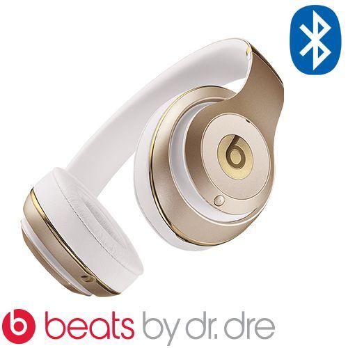אוזניות Bluetooth אלחוטיות + מיקרופון ביטס Dr.Dre Beats Studio Wireless בצבע זהב