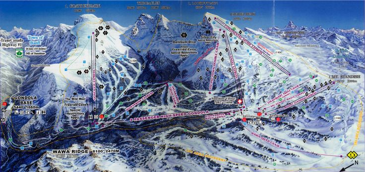 Learnt to snowboard at Sunshine Village Banff Ski Resort