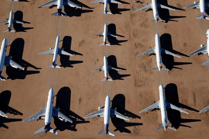 Cmentarzysko samolotów na pustyni. To tu trafiają, kiedy nikt nie chce już nimi latać