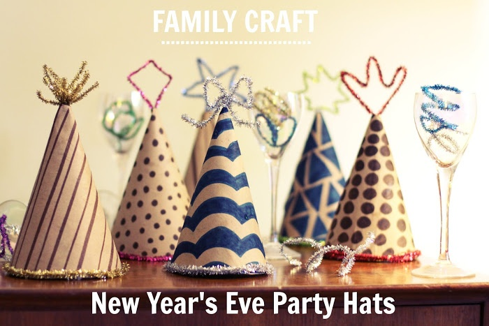 New Year's Party Hats from Salsa Pie