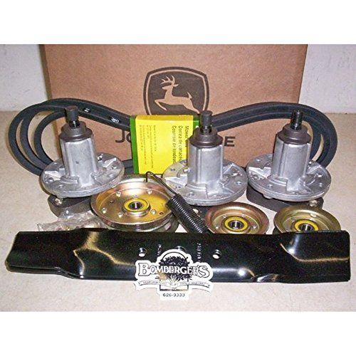 John Deere Deck Rebuild Kit 48 GY20996B L120 L130 Sabre For sale is a mower deck rebuild kit for John Deere L100 series, Scotts and Sabre lawn tractors with standard 48 inch deck.Part number GY20996, fits L120 with serial numbers of 150000 and below, L130 with serial numbers A130000 and B020000 and below,Sabre 1948, 2148, Scotts L2048 & L2548. NOT for use with 100 series or the LA series tractors.Includes everything listed below.(1) GX20305 Belt(3) GX20250 Blades(6) 19M7786 Blade ..