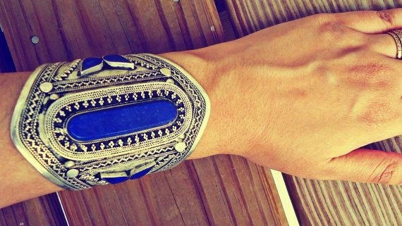 Afghan bracelet Afghan lapis bracelet Lapis Lazuli by ZamarutJewel