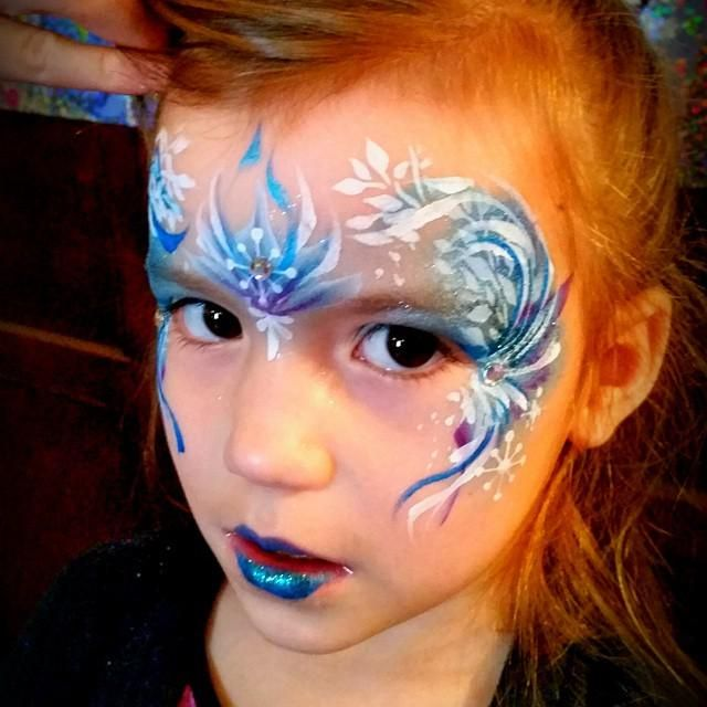 17 best images about frozen face paint on pinterest for Frozen face paint