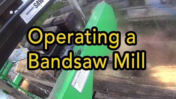 Cutting trees with a Harbor Freight Bandsaw Mill #Homestead #prepper #survivalist #offgrid #lifestyle #health #style