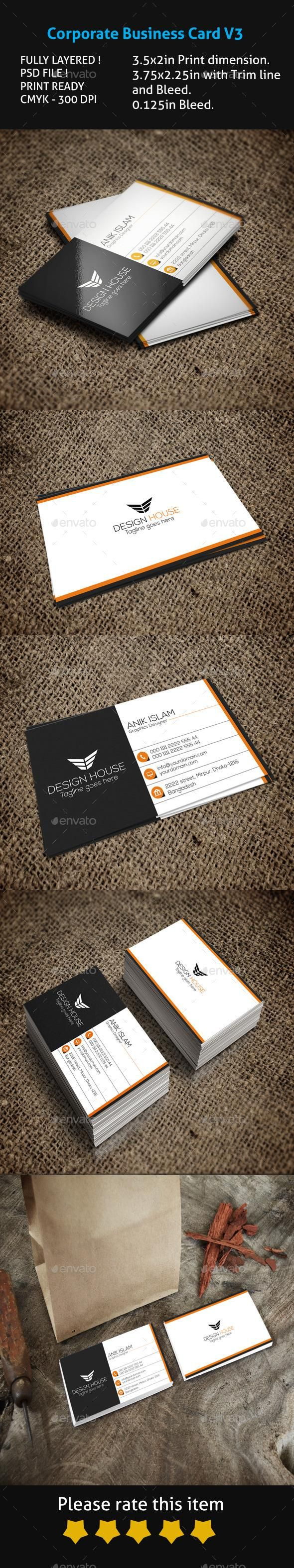363 best business card design images on pinterest business card corporate business card v3 reheart Image collections