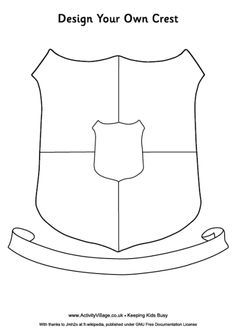 Design your own crest printable for kids