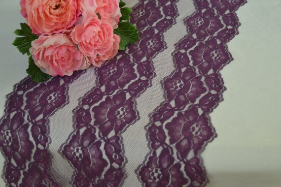 10 yards bulk Purple Lace 11 / Table Runner Lace DIY by LolaAndBea
